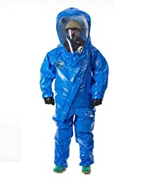 Lakeland Interceptor Fully Encapsulated Front Entry Level A Vapor Protective Suit, Disposable, Medium, Blue