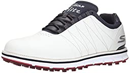Skechers Performance Men\'s Go Golf Tour Elite Golf Shoe, White/Navy/Red, 11 M US