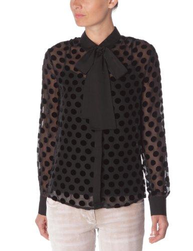 chemisiers et blouses kookai chemise pois femme noir 42. Black Bedroom Furniture Sets. Home Design Ideas