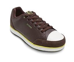 Crocs Men\'s Karlson Golf Shoe,Espresso/Citrus,US 10 M
