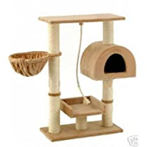 Go Pet Club Small Cat Tree Furniture Beige