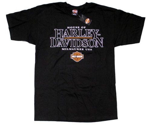 House of Harley Men's Short Sleeve T-Shirt. Graphics. Black. 302960754