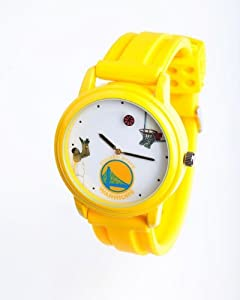 NBA Golden State Warriors Shooting Ball Yellow Watch and Band by Overtime Watch