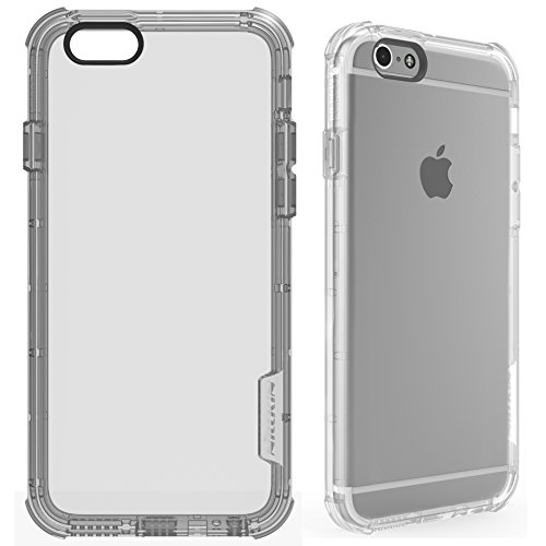 iPhone 6s 6 Case, Shock Absorption TPU Bumper Frame and Corners Crystal Clear TPU Back Cover Case for iPhone 6 6s - Clear (Nillkin Bumper compare prices)