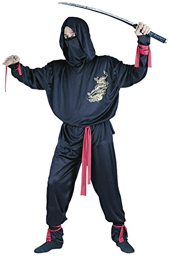 Funworld Mens Ninja Suit Theme Party Fancy Dress Costume