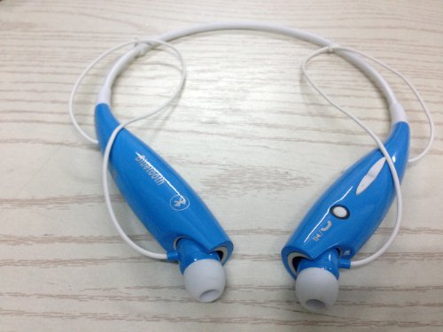 Soundbeats Universal Hv-800 Wireless Music A2Dp Stereo Bluetooth Headset Universal Vibration Neckband Style Headset Earphone Headphone For Cellphones Such As Iphone, Nokia, Htc, Samsung, Lg, Moto, Pc, Ipad, Psp And So On & Enabled Bluetooth (Blue, Hbs-800