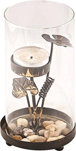 KRAFT N ROOM Metal Tealight Candle Holder (Black, 18 Cm X 12 Cm X 18 Cm)