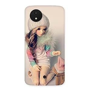 Cute Winter Doll Multicolor Back Case Cover for Micromax Canvas A1