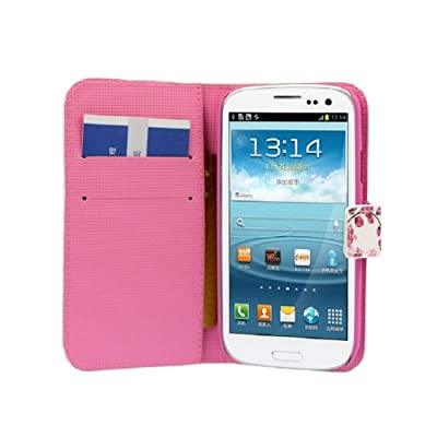Coromose Butterfly Flower Wallet Stand Flip Leather Case Cover for Samsung Galaxy S3 III I9300 from coromose