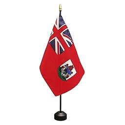 Bermuda Flag 8X12 Inch Mounted E Gloss With Fringe