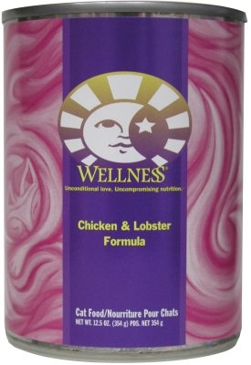 Wellness Canned Cat Food for Adult Cats, Chicken and Lobster Formula (Pack of 12 12.5 Ounce Cans)