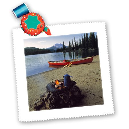 Qs_94002_2 Danita Delimont - Camping - Oregon, Sparks Lake. Camping Near Bend - Us38 Rer0030 - Ric Ergenbright - Quilt Squares - 6X6 Inch Quilt Square