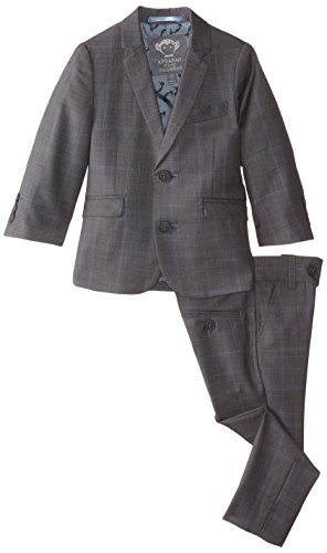Appaman Little Boys' Plaid Mod Suit, Greign Plaid, 3T