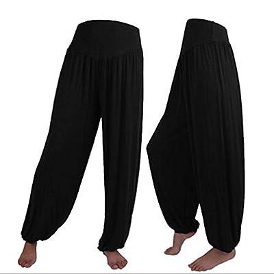 LiujosTM Womens Soft Elastic Waistband Harem Yoga Pants Fitness Pant