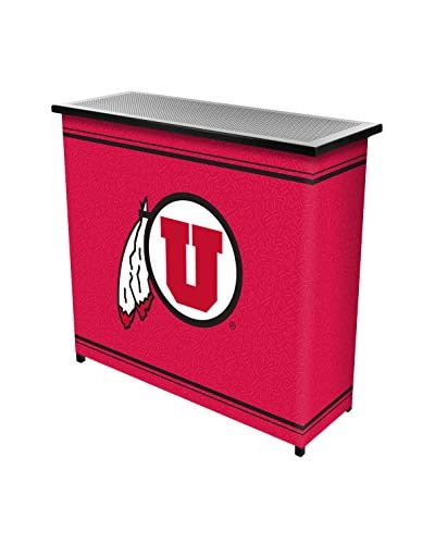 Trademark Global University of Utah 2-Shelf Portable Bar with Case As You See