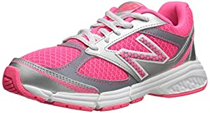 New Balance KJ514 Youth Lace Up Running Shoe, Pink/Silver, 2 M US Little Kid