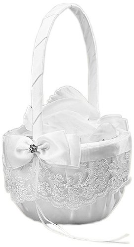 Beverly-Clark-French-Lace-Flower-Girl-Basket-White