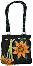 Felt Handbag 100% Wool Purse (Sunflower)