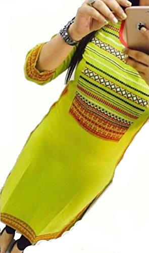 Selfie-style-Trendy-Parrot-color-Georgette-Embroidery-semi-stitched-kurti