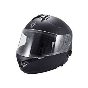 TORC T27 Full Face Modular Helmet with Integrated Blinc Bluetooth (Flat Black, Large) from TORC
