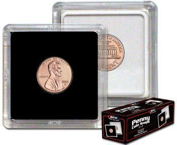 1 X 2x2 Coin Snap Holder Penny (19mm) Bundle of 25