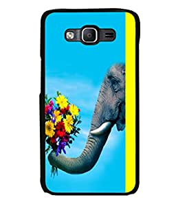 printtech Elephant Flowers Back Case Cover for Samsung Galaxy On5 Pro