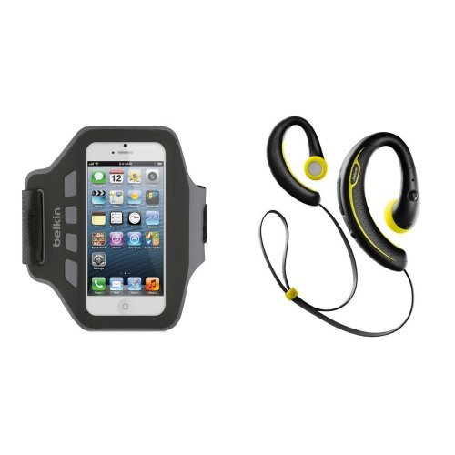 Smartphone Workout Bundle: Belkin Sports Armband Case For Iphone 5/5S/5C With Jabra Sport+ Bluetooth Headphones