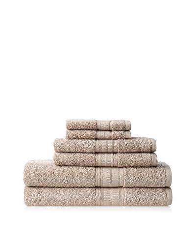 Laura Ashley Solid Towel Set, Twine, 6 Piece