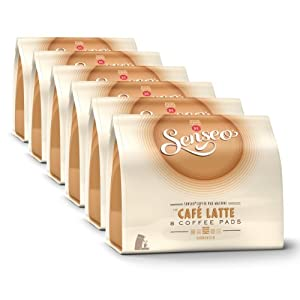 Order Senseo Café Latte, Design, Pack of 6, 6 x 8 Coffee Pods from Douwe Egberts