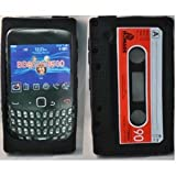 Cut Price Accessories Blackberry Retro Cassette Silicone Case for Model 8520/9300 Curve (Black)