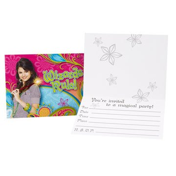 Wizards of Waverly Place 8 Pack Party Invites / Invitations
