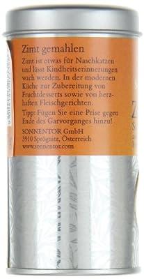 Sonnentor Zimt gemahlen (Sorte Ceylon) Streudose, 1er Pack (1 x 40 g) - Bio von Sonnentor - Gewürze Shop