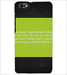 PrintDhaba Quote D-4469 Back Case Cover for HUAWEI HONOR 4C (Multi-Coloured)
