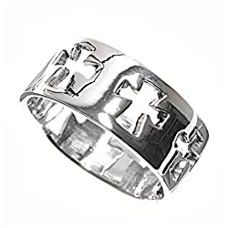 Sterling Silver Ring - Cross - Size: 6-9