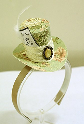Green Mini Top Hat Headband Mad Hatter Tea Party Alice in Wonderland Costume