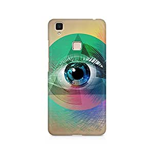 Mobicture Eye Abstract Premium Printed Case For Vivo V3 Max