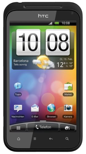 HTC Incredible S Android Smartphone (10.2cm (4 Zoll) Display, Touchscreen, 8 Megapixel Kamera, Android OS)