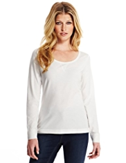 Indigo Collection Scoop Neck T-Shirt