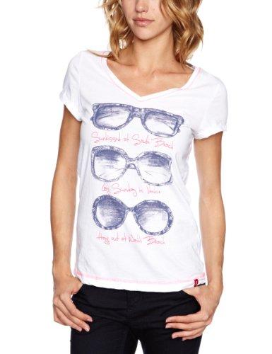 Esprit EDC Printed Women's T Shirt White Small