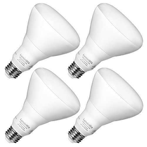 BR30 LED Bulbs,LuminWiz 9W 2700K 650lm Warm White Dimmable Flood Light Bulb,65W Equivalent,Medium Base (E26),Dimmable,UL Listed,ENERGY STAR- (Pack of 4) (Led Dimmable Recessed Light compare prices)