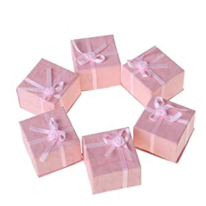 24pcs 指輪ケース  ギフトボックス ジュエリーボックス リングボックス プレゼント に ステキ オシャレ 結婚指輪  アクセサリーケース ピンク