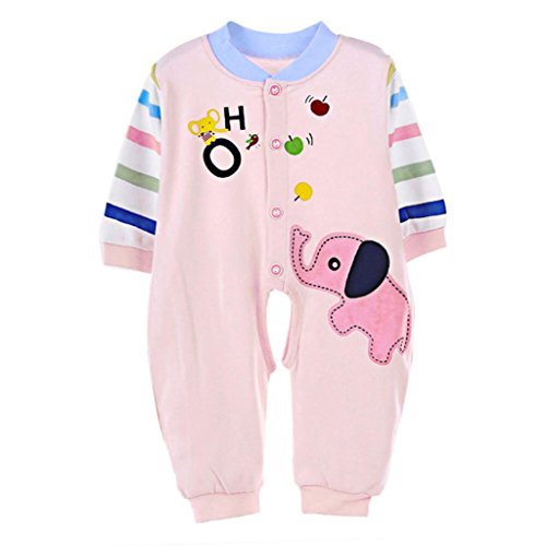 SUPPION Baby Boy Girl Romper Elephant Infant Clothes Outfit (3-5Months/ Bust:22