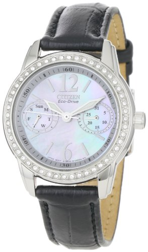 Citizen Women's FD1030-13D Silhouette, Swarovski Crystal, Eco-Drive Watch