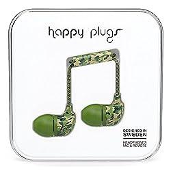 Happy Plugs 7742 In-Ear Headphones, Camouflage