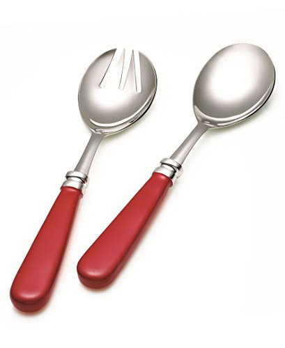 Fiesta Enamel 2 Piece Salad Set, Scarlet (Fiesta Serving Spoon compare prices)