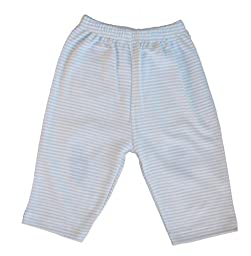 Kissy Kissy Baby Stripes Striped Pants-White With Blue-Newborn
