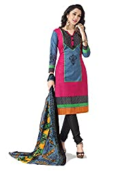 Balaji Fashion Women's fancy print cottan suit-D.NO 1014