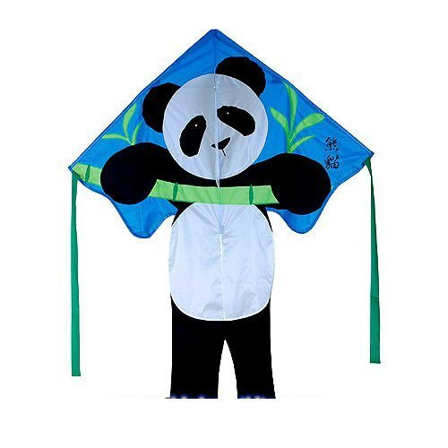 "Kite Large Easy Flyer Panda Bear (46"" X 65"") With 300 Ft 30lb Test Kite String And Winder By Premier Kites & Designs"