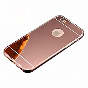 Novo Style Metal Bmper Frame Case with Acrylic Mirror Back Cover For Apple iPhone 5S - Pink