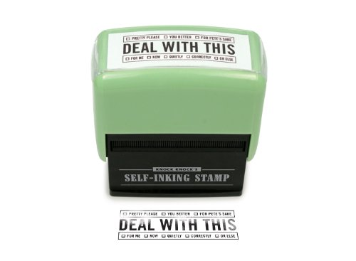 Deal With It Self Inking Stamp